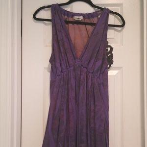 Purple halter-style dress, sz L